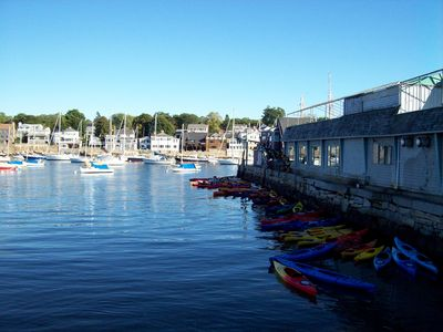 Rockport Harbor from Bearskin Neck...rent kayaks on Tuna Wharf (bikes too!)
