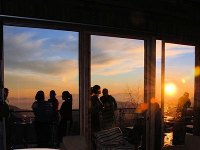 Dramatic sunsets are common and provide the perfect apres ski backdrop