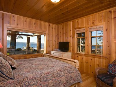 LAKE TAHOE LAKEFRONT HISTORIC ESTATE - 'TWIN PINES' - Master Bedroom