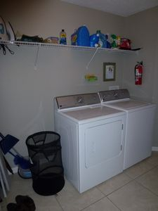 New laundry appliances, conveniently located off kitchen.