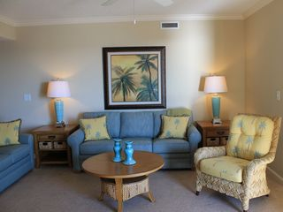 Kingston Plantation condo photo - Enjoy the spacious living room with plenty of seating for entire family.
