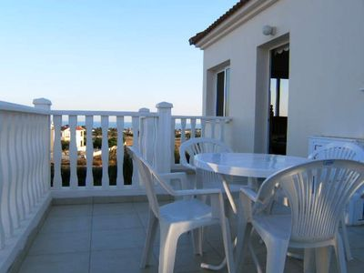 Private Balcony of Villa Nishita with sea views