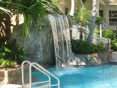 Vanderbilt Beach condo rental - Waterfall Grotto in Zero Edge Pool