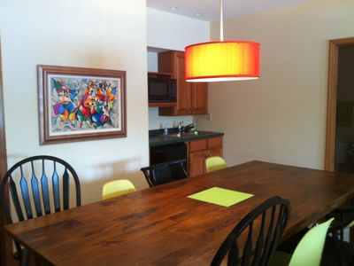 Have fun at the game table, do puzzles, play games & snack at the kitchenette.