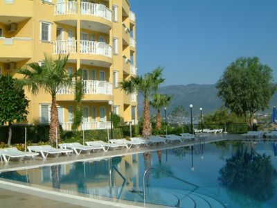 Alanya apartment rental - Pool next to apartment