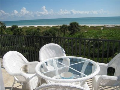 Sanibel Island Townhome-Beach View from Large Balcony