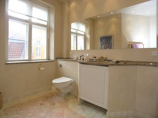 Stroget apartment photo - Bathroom with toilet and sink plus view