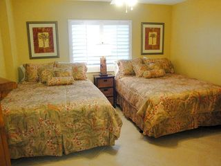 Indian Rocks Beach condo photo - Two queens in second bedroom with large Visio HD TV