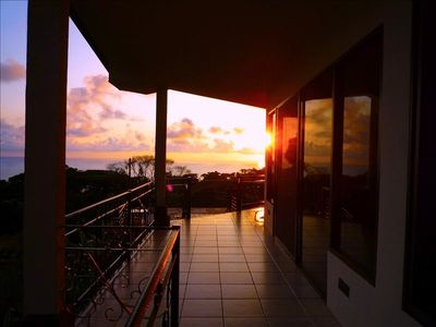 Enjoy stunning sunset on the patio or by the pool