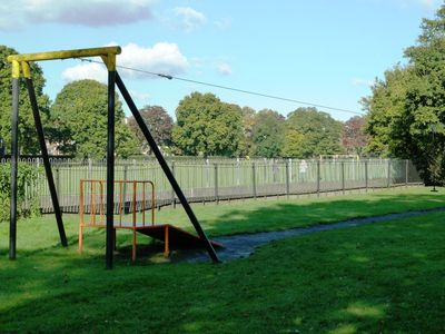 Bromley apartment rental - Kids love the zipline in the park across the street.