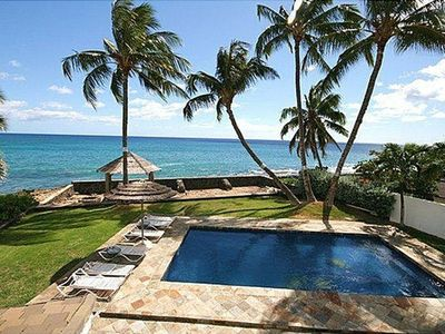Amazing view of ocean, pool and back yard from Master suite bedroom lanai.
