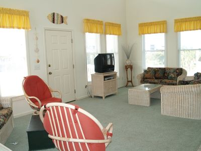 Holden Beach house rental - Living Room view in Joy of Flying