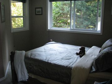 lots of windows in this bedroom