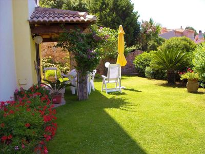 Accommodation near the beach, 75 square meters, with garden
