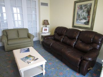 New LaZBoy loveseat with a pull out twin bed. Much more comfy than original.