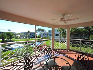 Placida condo photo - View from living room lanai over pond and fountain.