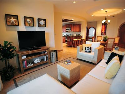 Our Main Living Area....Warm and Inviting with Lovely Island Living Decor!
