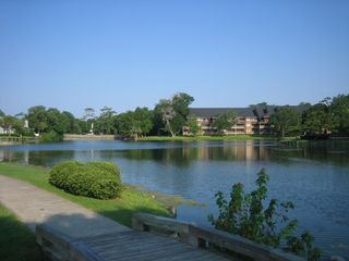 Kingston Plantation condo photo - Fishing from the Kingston Plantation Pond
