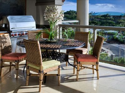 Enjoy your meals on the Lanai