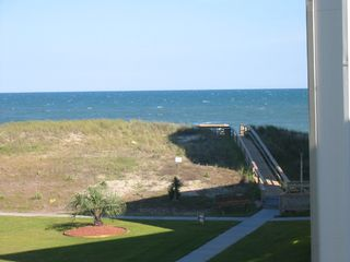 Surf City condo photo - View from condo of the ocean,walkway to the beach,and the dunes