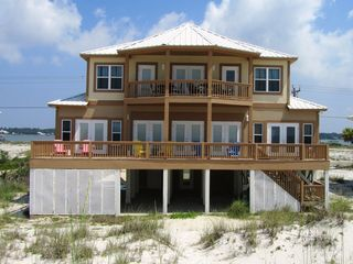 Gulf Shores house photo - Beach side of Feeling Beachy, Gulf Shores Alabama Vacation Rentals