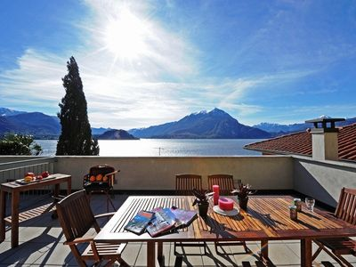 Varenna apartment rental - Bella Fontana's large elevated sun terrace