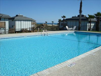 Enjoy great Gulf views while you are swimming laps in the large complex pool!