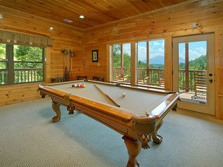 Pigeon Forge cabin photo - You're Up! Newly Recovered Table, new cues, beautiful views!