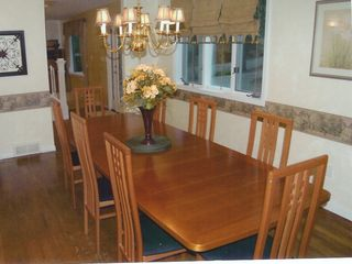 Traverse City house photo - Dining Room shown to seat 8, can seat up to 14