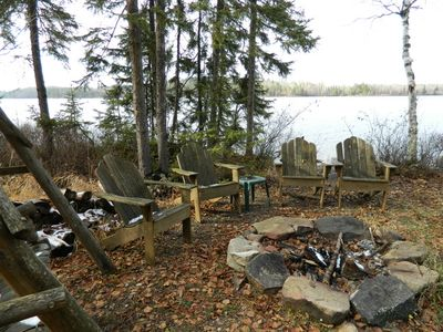 Ely cabin rental - Fire pit near the lake