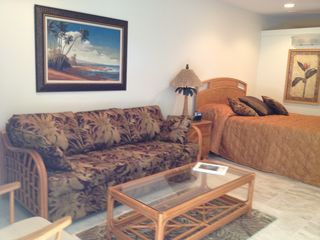 Napili condo photo - The living area of Napili Bay Resort #116.