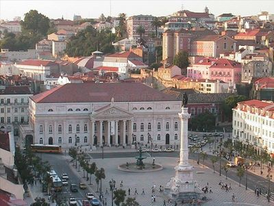 If the Majestic Rossio Square (only 30m from here) during the day is beautiful..