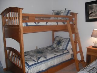 North Conway condo photo - Set of brand new bunks plus a twin in this room