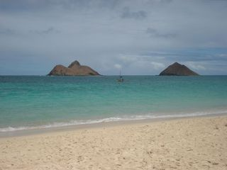 Kailua house rental - Twin Mokulua Islands at Lanikai Beach