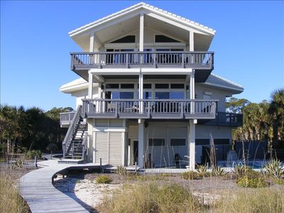 Paradise from the beach side, top deck accessible from Master Suite.