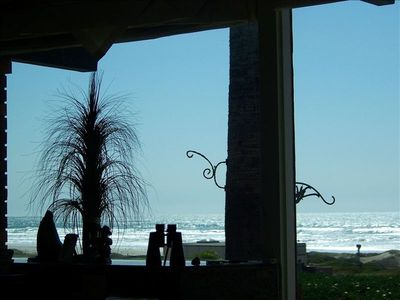 Partial view of the Pacific Ocean from the kitchen and livingroom.