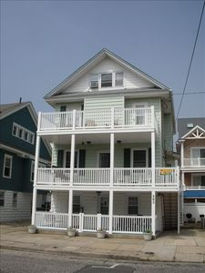 Enjoy a classic OC vacation home, steps to beach & boardwalk.