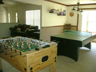 Shawnee house photo - Enjoy board games, cards, ping pong, pool, or foosball in the game room.