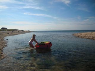 Peconic house photo - Riding the low tide at Goldsmith's Inlet. Perfect for tubing, wading, fishing.