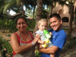 Troncones estate photo - MAria & Humberto with little guest