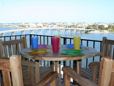 The back deck is an ideal place for coffee or your favorite evening beverage!