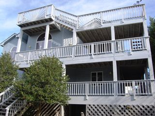 Corolla house photo - Skydeck with panoramic views of ocean, sound and lighthouse