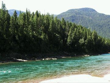 Fly fishing on the Middle Fork of the Flathead River