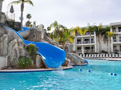 Water Slide at Main Pool at the Palm Canyon Resort