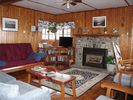 Stone gas fireplace - Dresden cottage vacation rental photo