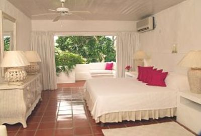 Romantic ensuite master bedroom with terrace