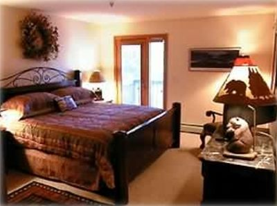 Breckenridge lodge rental - Master #2. King Bed-Private deck w/views of Baldy Mtn & Blue River