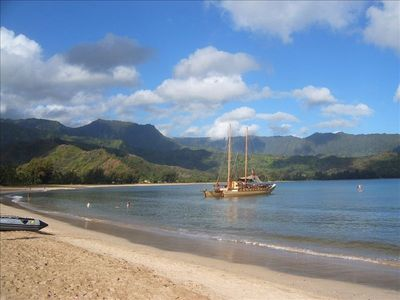 Beautiful Hanalei Bay is beckoning you to come and enjoy.