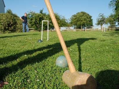 Croquet on the rolling lawns