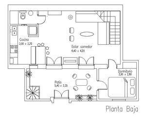 Palermo apartment photo - Downstairs Floor Plan